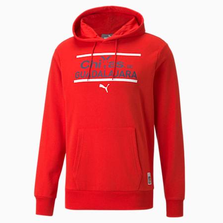 Sudadera con capucha de fútbol Chivas FtblCore para hombre, Puma Red-Peacoat, pequeño