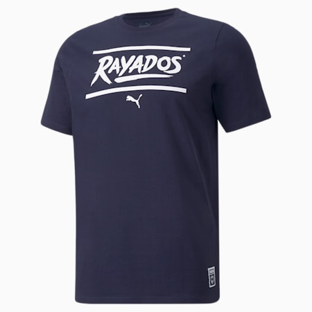 Camiseta de fútbol Monterrey FtblCore para hombre, Peacoat-Puma White, pequeño