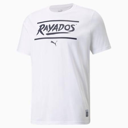 Camiseta de fútbol Monterrey FtblCore para hombre, Puma White-Peacoat, pequeño