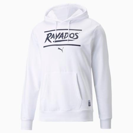 Sudadera con capucha de fútbol Monterrey FtblCore para hombre, Puma White-Peacoat, pequeño