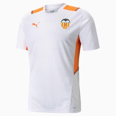 Valencia CF Training Men's Jersey, Puma White-Vibrant Orange, small