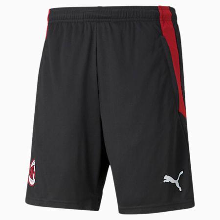 ACM Training Men's Football Shorts, Puma Black-Tango Red, small-GBR