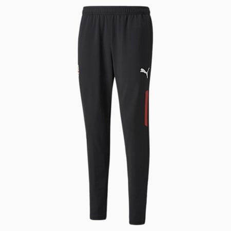 Pantalones de entrenamiento para fútbol AC Milan para hombre, Puma Black-Tango Red, pequeño