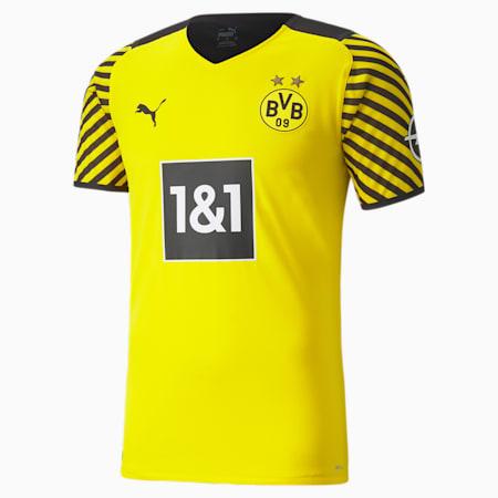 Camiseta auténtica de la 1.ª equipación del BVB para hombre, Cyber Yellow-Puma Black, small