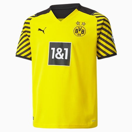 BVB Home Replica Youth  Jersey, Cyber Yellow-Puma Black, small