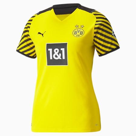 Camiseta réplica de la 1.ª equipación del BVB para mujer, Cyber Yellow-Puma Black, small