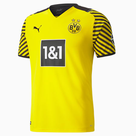 BVB Home Replica Men's Large  Jersey, Cyber Yellow-Puma Black, small