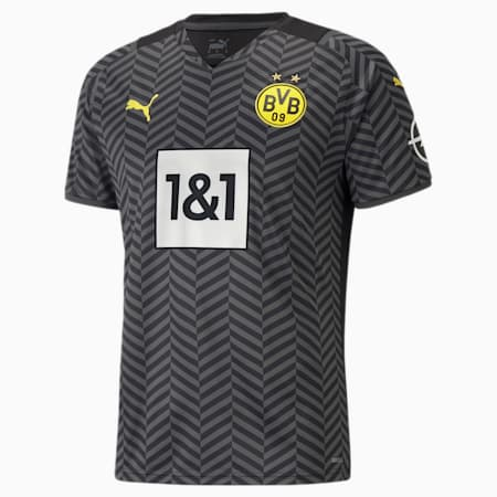 BVB Away Replica Men's Jersey 21/22, Asphalt-Puma Black, small-SEA