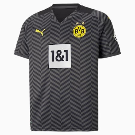 BVB Away Replica Youth Jersey 21/22, Asphalt-Puma Black, small-GBR