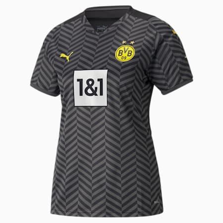 BVB Away Replica Women's Jersey 21/22, Asphalt-Puma Black, small