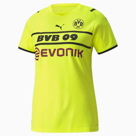 BVB Cup Shirt Women's Replica T-Shirt, Safety Yellow-Puma Black, small-IND