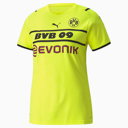 BVB Cup Replica Women's  Jersey, Safety Yellow-Puma Black, small-GBR
