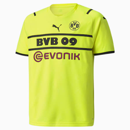 BVB Cup Replica Youth  Jersey, Safety Yellow-Puma Black, small-GBR