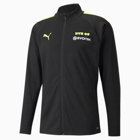 BVB Training Men's Football Jacket, Puma Black-Safety Yellow, small-GBR