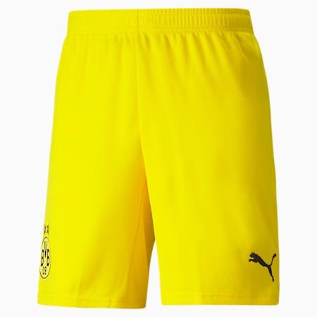 BVB Replica Men's Football Shorts, Cyber Yellow-Puma Black, small