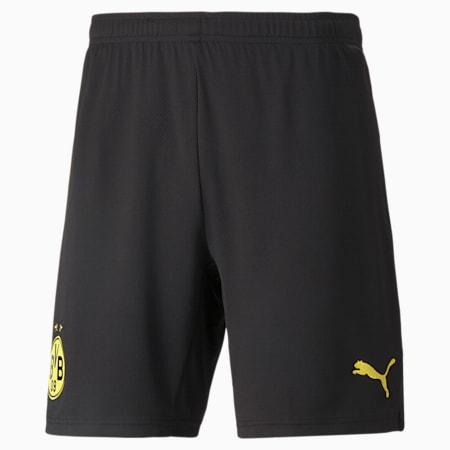 BVB Replica Men's Football Shorts, Puma Black-Cyber Yellow, small