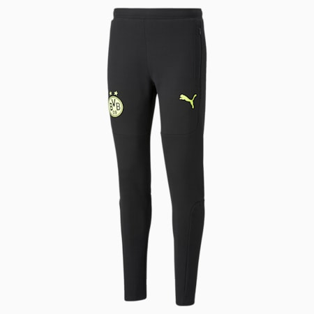 BVB Casuals voetbalsweatpants voor heren, Puma Black-Safety Yellow, small