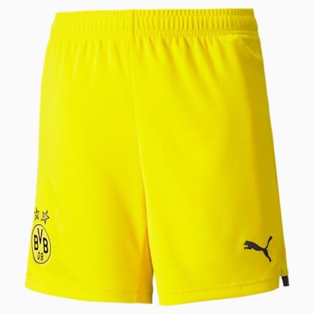 Short de soccer BVB imitation, enfant, jaune cyber-noir PUMA, petit
