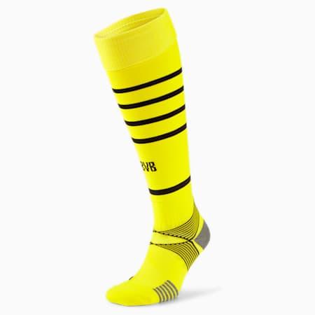 BVB Replica Men's Hooped Socks, Cyber Yellow-Puma Black, small