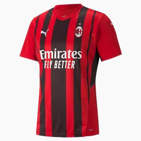 AC Milan Home Men's Replica T-Shirt, Tango Red -Puma Black, small-IND
