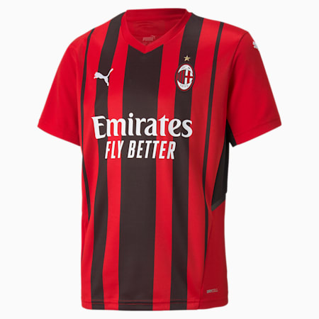 Camiseta juvenil réplica 1ª equipación AC Milan, Tango Red -Puma Black, small
