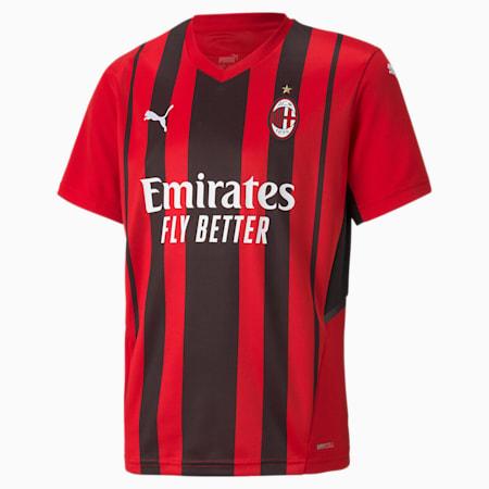 AC Milan Home Replica Youth Jersey, Tango Red -Puma Black, small-SEA