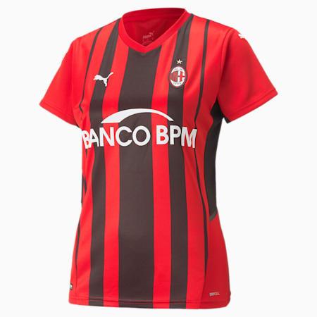 AC Milan Home Replica Women's Jersey, Tango Red -Puma Black, small