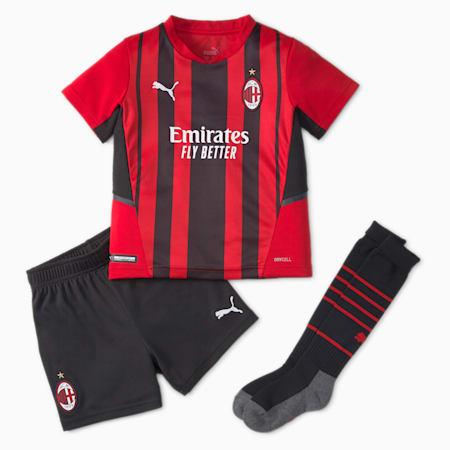 AC Milan Home Youth Football Mini-Kit, Tango Red -Puma Black, small