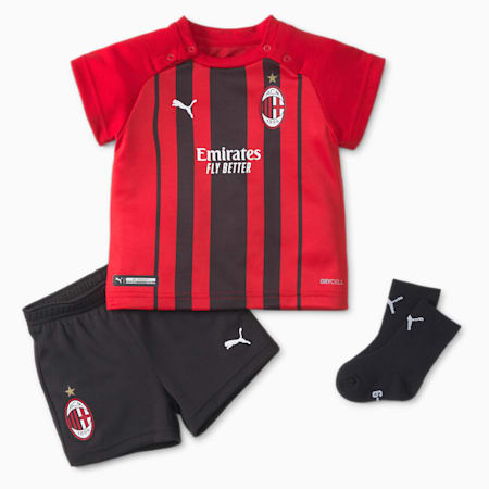 AC Milan Home Babies' Football Mini-Kit, Tango Red -Puma Black, small