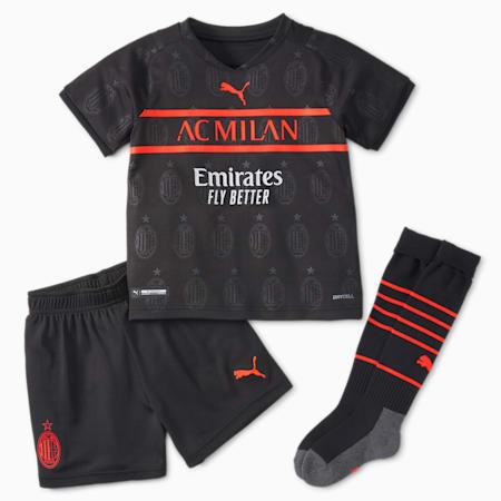 Mini completo da calcio Third ACM da ragazzo 21/22, Puma Black-Red Blast, small