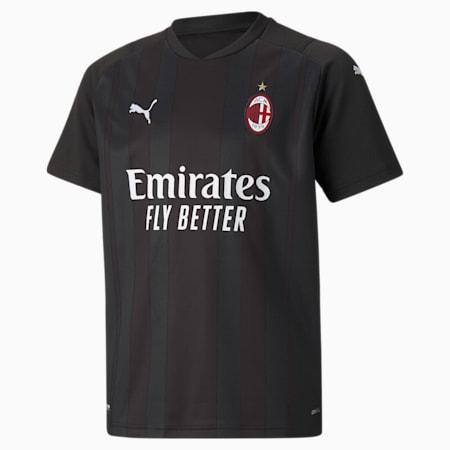 AC Milan Replica Youth Goalkeeper Jersey, Puma Black-Puma White, small-GBR
