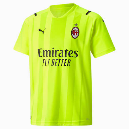 AC Milan Replica Youth Goalkeeper Jersey, Safety Yellow, small