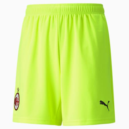 AC Milan Replica Youth Football Goalkeeper Shorts, Safety Yellow, small