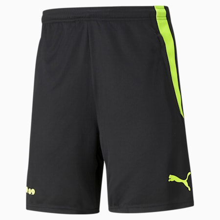 BVB trainingsvoetbalshort voor heren, Puma Black-Safety Yellow, small