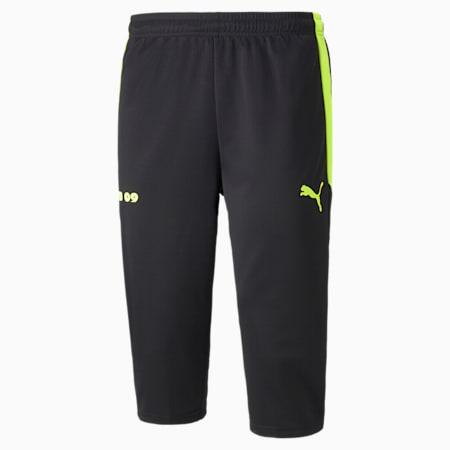 Pantalon d'entraînement de soccer BVB 3/4, homme, Noir Puma-jaune sécurité, petit