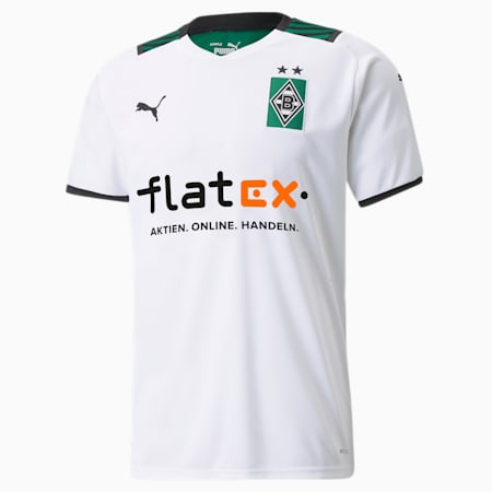 Maillot BMG Home Replica pour homme 21/22, Puma White-Power Green, small