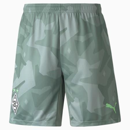 BMG Away Replica Men's Football Shorts 21/22, Laurel Wreath-Elektro Green, small