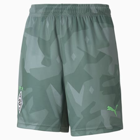 BMG Away Replica Youth Football Shorts 21/22, Laurel Wreath-Elektro Green, small