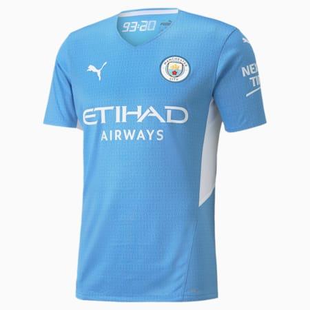 Camiseta de local original Manchester City para hombre, Team Light Blue-Puma White, pequeño