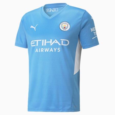 Manchester City Home Replica Men's Jersey, Team Light Blue-Puma White, small-IND