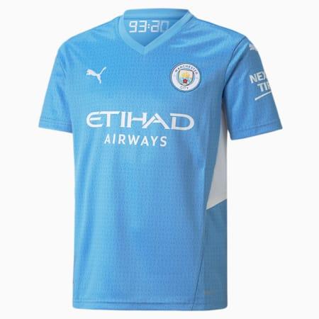 Młodzieżowa koszulka domowa Man City 21/22, Team Light Blue-Puma White, small