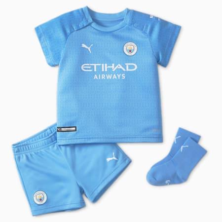 Man City Home Football Babies' Kit, Team Light Blue-Puma White, small-GBR