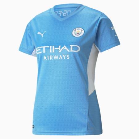 Maillot Manchester City imitation à domicile, femme, Bleu pâle d'équipe - blanc Puma, petit