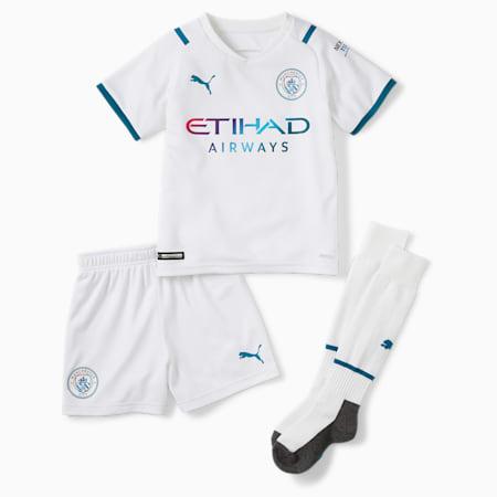 Man City Away Youth Football Mini Kit 21/22, Puma White-Ocean Depths, small