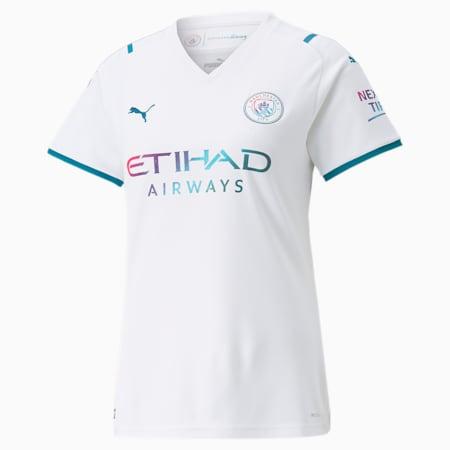 Camiseta réplica de la segunda equipación del Man City para mujer 21/22, Puma White-Ocean Depths, small