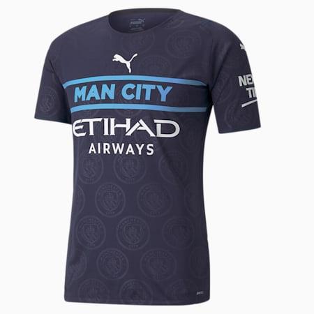 Dodatkowa męska autentyczna koszulka Man City 21/22, Peacoat-Puma White, small