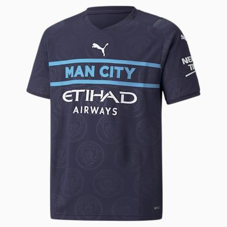 Młodzieżowa replika dodatkowej koszulki Man City 21/22, Peacoat-Puma White, small