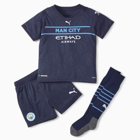 Dodatkowy młodzieżowy zestaw piłkarski Man City mini 21/22, Peacoat-Puma White, small