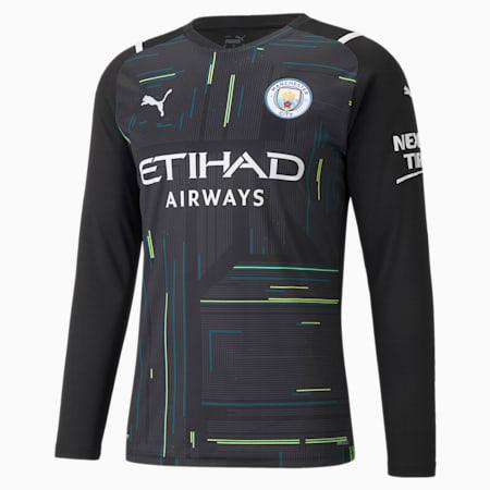 Man City Goalkeeper Replica Long Sleeve Men's Jersey, Puma Black-Puma White, small-GBR