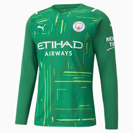 Man City Goalkeeper Replica Long Sleeve Men's Jersey, Amazon Green-Green Gecko, small